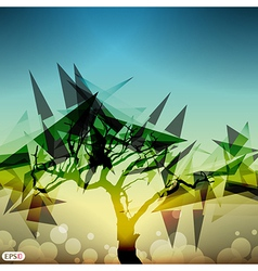 Shard tree vector image