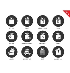 Technology gifts icons on white background vector image