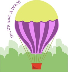 Up up and away vector
