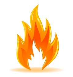 vector symbol fire shiny flame vector image