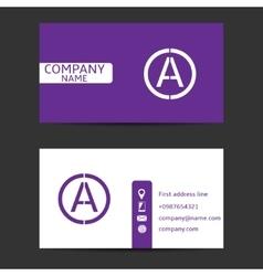 Violet card vector