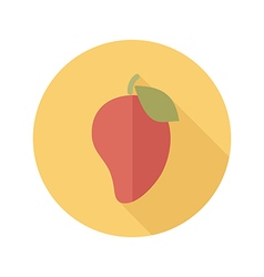 Mango flat icon tropical fruit vector