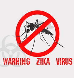 Caution of mosquito icon spread of zika vector image