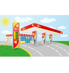 Car petrol station vector