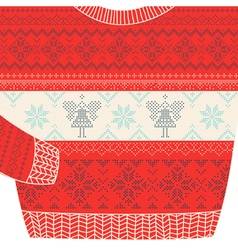 Christmas Ornamental Sweater Card vector image