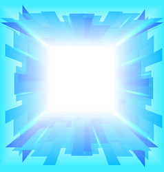 Blue portal in the sky vector