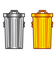 Retro dustbin vector