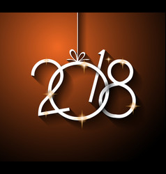 2018 happy new year background for your seasonal vector image vector image