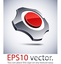 3d modern gear logo icon vector