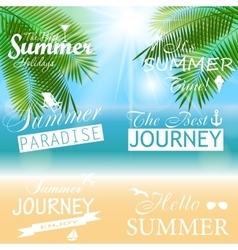 Summer sunny natural background vector