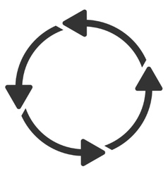 Circular route icon vector
