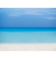 Blue sky sea and beach with white sand vector