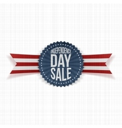 Independence day sale textile label vector