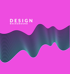 abstract geometric background with dynamic waves vector image