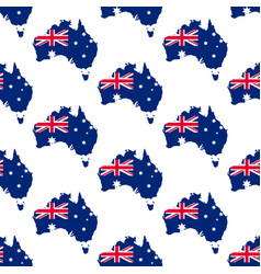 Australia map and flag pattern vector