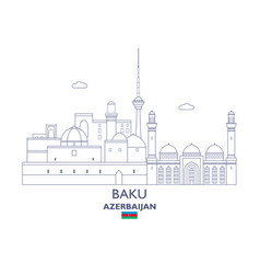 baku city skyline vector image
