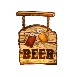 Bar sign on wooden board vector