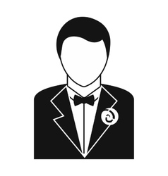 Bridegroom simple icon vector