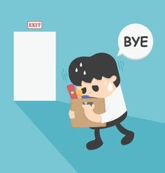 Businessman leaving job vector