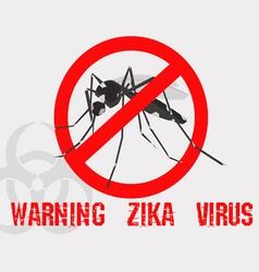 Caution of mosquito icon spread of zika vector