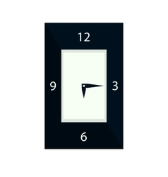 clock icon isolated vector image vector image