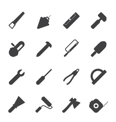 Construction and Building Tools icons vector image vector image