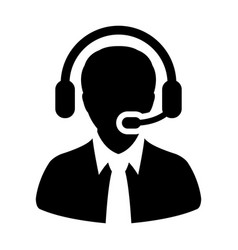 customer care service and support icon vector image vector image