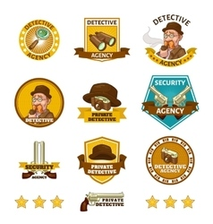 Detective Agency Emblems vector image