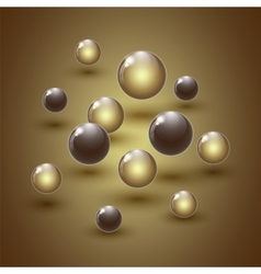 Different colour glass balls on colorful vector image vector image