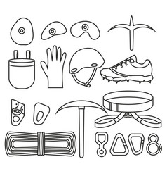 flat design elements of rock climber vector image vector image