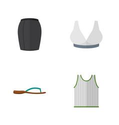 Flat garment set of stylish apparel brasserie vector