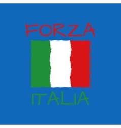 forza italia typography t-shirt graphics vector image