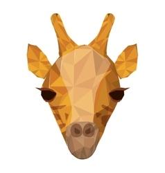 Giraffe animal icon vector