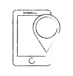 gps pin and cellphone icon image vector image vector image