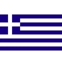 Greece flag image vector image vector image