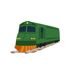 Green cargo or passenger train locomotive vector