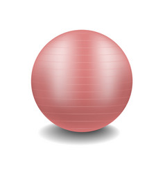 Gym ball in pink design with shadow vector