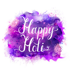 Holi festival banner with white lettering vector