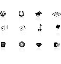 Las Vegas icons vector image
