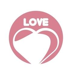 Love heart romantic ornament vector