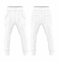 Mens white sweatpants vector