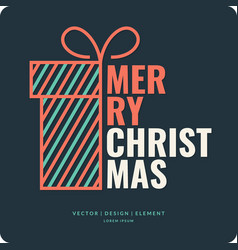 Merry christmas background holiday 2017 vector