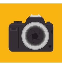 Picture camera with lens shutter design graphic vector