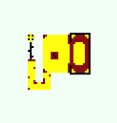 Pixel elephant head vector