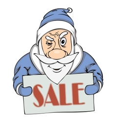 Pre-holiday sale from santa vector