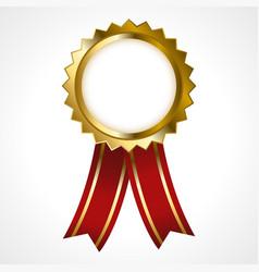 premium golden badge vector image
