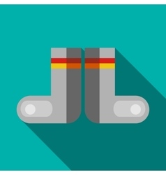 Russian traditional winter felt boots icon vector image