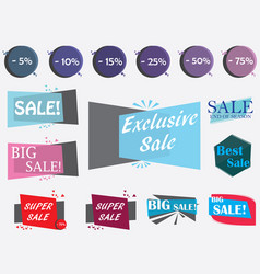 sale design elements vector image vector image