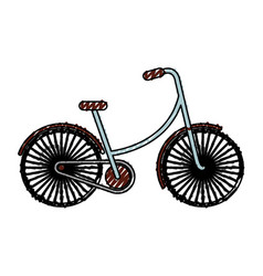 Scribble vintage bicycle cartoon vector