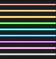 set of nine colorful laser beams vector image vector image